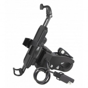 Digidock Mobile Holder With USB Charger For Motorbike